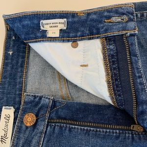 Madewell Curvy High-rise Skinny Jeans Size 26